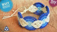 Wavy Macrame Bracelet Tutorial - New Crafty Macrame Design - YouTube
