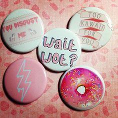 Pastel Goth Pink Soft Grunge Kawaii Set Of 5 by GeekFreakSupply