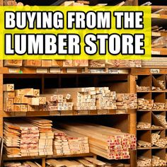 Money Saving Tips for Buying Wood from the Lumber Yard! #woodworking #wood