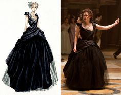 """Anna Karenina-the film's eponymous heroine (Keira Knightley) dons a dramatic black silk taffeta ball gown, a color deliberately chosen to respect Tolstoy's version. """"It was not so much about the elements of the dress, but the way it framed her,"""""""