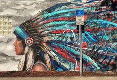 Streetart News [wall - Maslow, Arlin, Caktus E Maria - Street Art Trend 2019 Urban Street Art, 3d Street Art, Street Artists, Urban Art, Graffiti Murals, Murals Street Art, Graffiti Artists, Graffiti Lettering, Mural Cafe