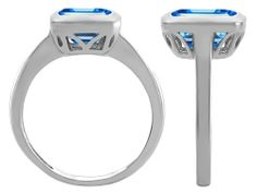 Original Star K (tm) Emerald Cut Octagon Solitaire Engagement Ring With Genuine Blue Topaz Star K, Rings For Her, Emerald Cut, Solitaire Engagement, Promise Rings, Blue Topaz, Sterling Silver, Stuff To Buy, Jewelry