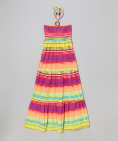 Take+a+look+at+the+Purple+Pop+&+Orange+Stripe+Maxi+Dress+-+Toddler+&+Girls+on+#zulily+today!