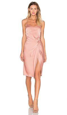 Stunning pink cocktail dress   NBD Georgia Dress in Blushed Nude