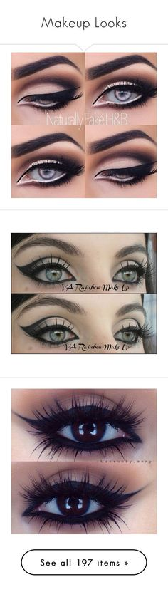 """""""Makeup Looks"""" by gymholic ❤ liked on Polyvore featuring beauty products, makeup, eyes, beauty, eye makeup, eyeshadow, palette eyeshadow, bhcosmetics, lips and lip makeup"""