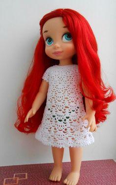 Doll Clothes / Disney Animator Doll Ariel / Crochet