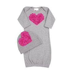 Baby Girl Bundle of Love Heather Grey Layette Set