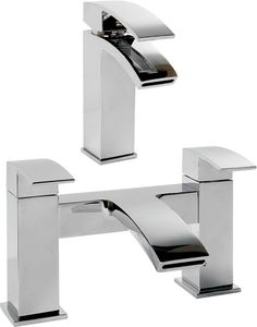 Half Price Friday  Up to OFF taps sets today at While stock lasts! more bathroom products available. Free delivery on everything. Bath Taps, Bathroom Taps, Basin Mixer, Cool Kitchens, Solid Brass, Waterfall, Sink, Chrome, Half Price