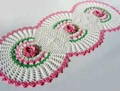 CROCHE COM RECEITAS: Crochê Centro de Mesa Floral