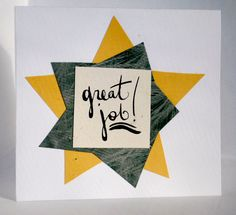 Great Job Greeting Card by thinkblots on Etsy, $5.00