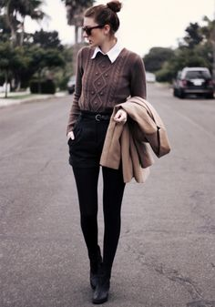sweater and collar