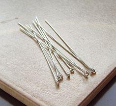 22-gauge Looped Eyepins (sterling silver)