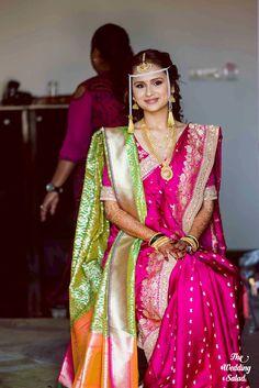 Marathi Bride, Marathi Saree, Marathi Wedding, Nauvari Saree, Indian Wedding Photography Poses, Indian Wedding Planning, Indian Weddings, Bridal Photoshoot, Bride Portrait