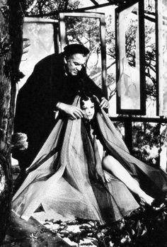 Fellini directs Sandra Mila in Giulietta degli spiriti, 1965