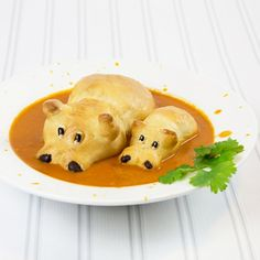 Bake some bread roll hippos to go swimming in your soup.