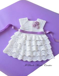 Crochet Baby Dress + Crochet Baby Shrug cotton made in Italy SIZES: Crochet Baby Dress months: Items similar to Baby Dress-Crochet Baby Dress-Christening Gown Baby Dress on Etsy Crochet Baby Shrug, Knit Baby Dress, Crochet Lace Dress, Baby Girl Crochet, Crochet Baby Clothes, Baby Knitting, Sew Dress, Knitted Baby, Dress Lace