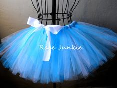 Two toned Blue tutu 9 inch tutu by RaceJunkie on Etsy, $31.95