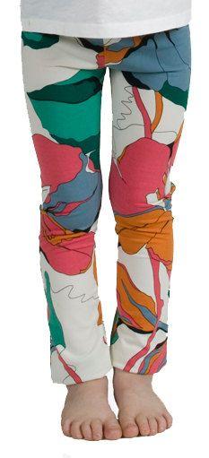 Bright Floral Print Kids Leggings. $35.00, via Etsy.