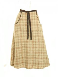 09d8bf00e821 Furry 1970s Kenzo plaid and wool a-line skirt. Quintessential of  70s Kenzo