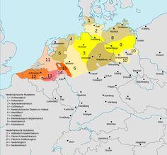 Verbreitungsgebiet der heutigen niederdeutschen Mundarten - Nederduits - Wikipedia