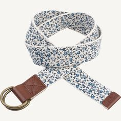 A durable cotton belt with a classic metal loop and soft leather FatFace trim; a perfectly pretty piece, finished beautifully by a fancy floral print. Fat Face, Soft Leather, Floral Prints, Fancy, Belt, Nice, Metal, Classic, Pretty