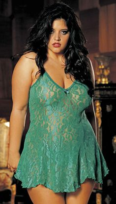 JevelLingerie.com Plus Princess Line Stretch Lace Chemise This is one of our best selling plus chemises! Made of a beautifully colored floral stretch lace and comes w/ adjustable shoulder straps. Shown w/ matching Stretch Lace Thong, sold separately. Colors: Black, Ocean Blue, Bright Pink, Jade, Magenta, Red. Sizes: 1X, 2X, 3X, 4X, 5X, 6X. Price (1X - 3X): $45.00 Price (4X - 6X): $ 50.00  Photography by Shirley of Hollywood #plussizelingerie #plussizenightgown #bridalshowergift #bridalshower