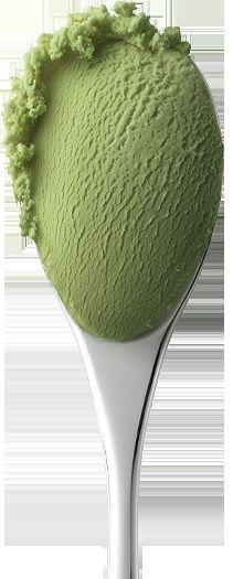 Le thé vert crème glacée ;)