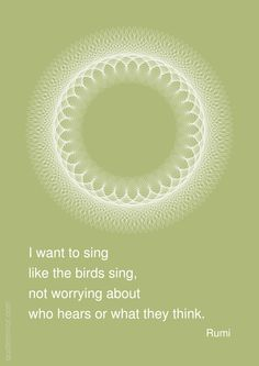 I want to sing