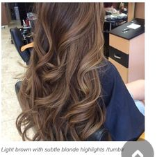Light brown with subtle blonde highlights. My next color I do