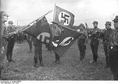 SA Color Guard, Berlin 1932.