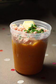 Recette de la purée de carotte et polenta pour bébé, faite maison. Recette toute douce et adaptée pour bébé dès 9 mois