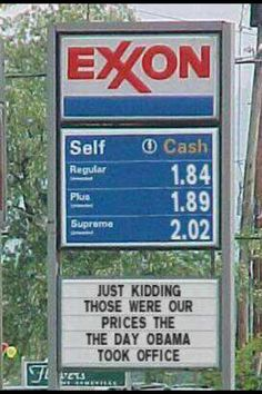 Gas is certainly cheaper under Barack #Obama's economy, in'it? #SCOAMF