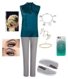 """""""Work outfit 3"""" by lovelynne on Polyvore featuring Joseph, Lanvin, TOMS, Topshop, EF Collection, Casetify and Love This Life"""