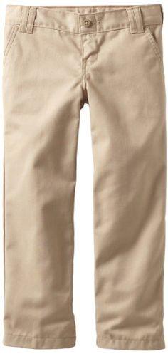 Dickies Kids Girls 7-16 Flex Waist Flat Front Straight Leg Pant for only $11.96