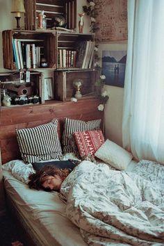 by Théo Gosselin - I would love sleeping amongst the books ... #dreamy