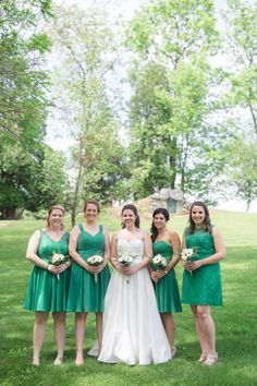 Lovely green bridesm