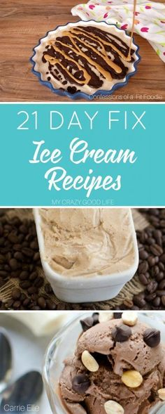 21 Day Fix ice cream recipes are perfect for curbing a sweets craving. These are healthy ice cream recipes you can include in your meal plans for a treat!  via @bludlum