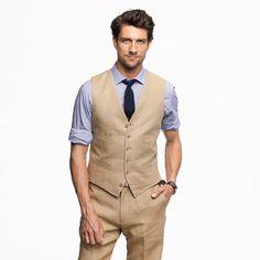 Suit vest in Irish linen