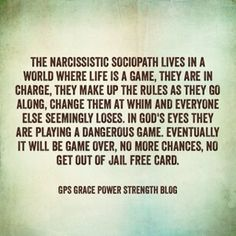 GPS-Grace Power Strength: Will A Narcissistic Sociopath Go To Heaven?