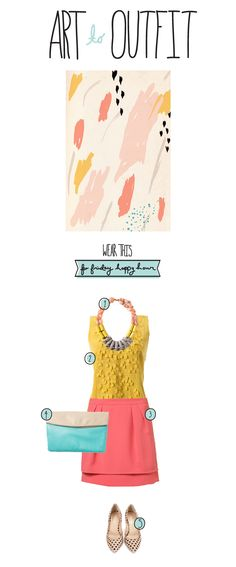 Art to Outfit- Happy Hour  |  The Fresh Exchange