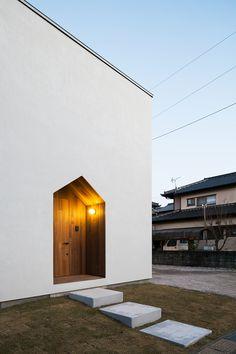 Minimal House Design, Minimal Home, My Home Design, Home Interior Design, Restaurant Exterior Design, Entrance Lighting, Bauhaus, Bungalow House Design, House Entrance