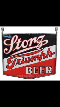 Storz Triumph Porcelain Beer Sign