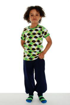 T-shirt poissons verts