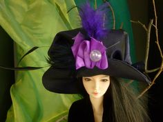 BJD Couture Doll Hat by susanlake1 on Etsy, $140.00