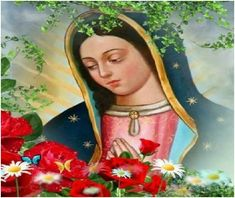 Catholic Pictures, Jesus Pictures, Blessed Mother Mary, Blessed Virgin Mary, Virgin Mary Painting, Mama Mary, Holy Mary, Catholic Prayers, Religious Art