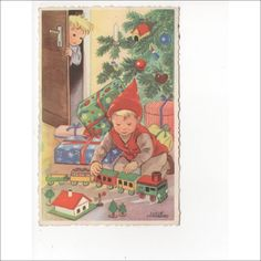 Your place to buy and sell all things handmade Christmas Elf, Vintage Christmas, An Elf, Train Set, Scandinavian Christmas, Vintage Toys, Making Out, Little Boys, Presents