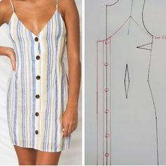 Sewing Clothes Women, Diy Clothing, Clothing Patterns, Dress Patterns, Fashion Sewing, Diy Fashion, Fashion Outfits, Costura Fashion, Sewing Collars