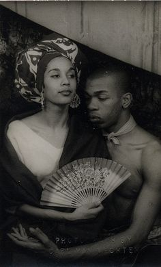 Geoffrey Holder (Uncola man) and Future wife Carmen de Lavallade
