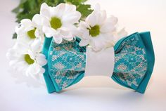 FREE SHIPPING Turquoise unisex bowtie Groomsman by accessories482
