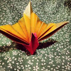 折り紙 祝い鶴             Origami Crane
